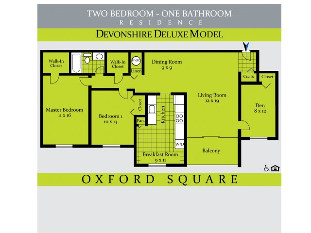 2 Bedrooms 1 Bathroom Apartment for rent at Oxford Square At White Flint in Rockville, MD