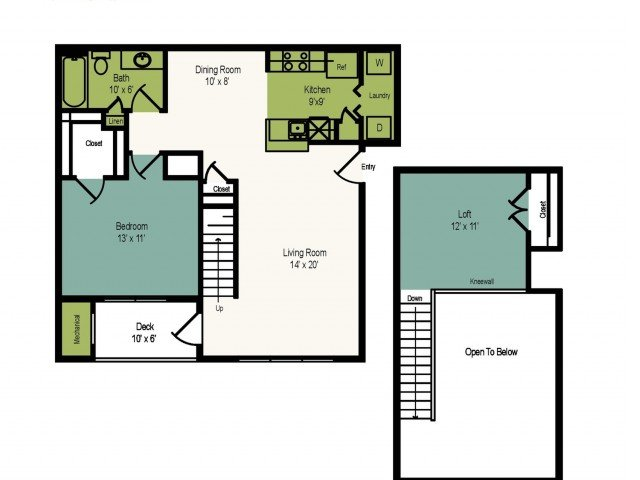 1 Bedroom 1 Bathroom Apartment for rent at The Villages At Decoverly in Rockville, MD