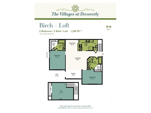 2 Bedrooms 3 Bathrooms Apartment for rent at The Villages At Decoverly in Rockville, MD