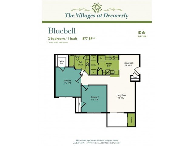 2 Bedrooms 1 Bathroom Apartment for rent at The Villages At Decoverly in Rockville, MD