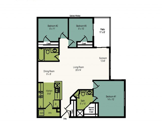3 Bedrooms 2 Bathrooms Apartment for rent at The Villages At Decoverly in Rockville, MD