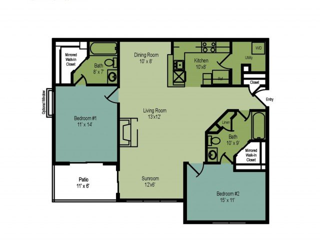 2 Bedrooms 2 Bathrooms Apartment for rent at The Villages At Decoverly in Rockville, MD