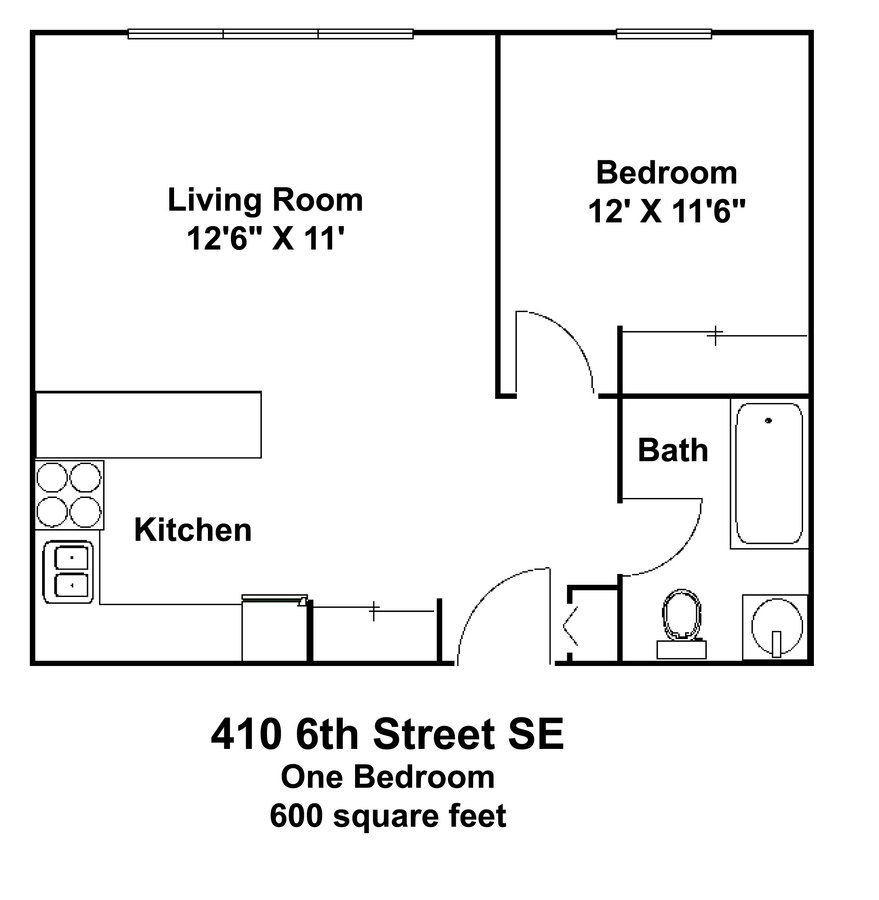 1 Bedroom 1 Bathroom Apartment for rent at 410 Apartments in Minneapolis, MN