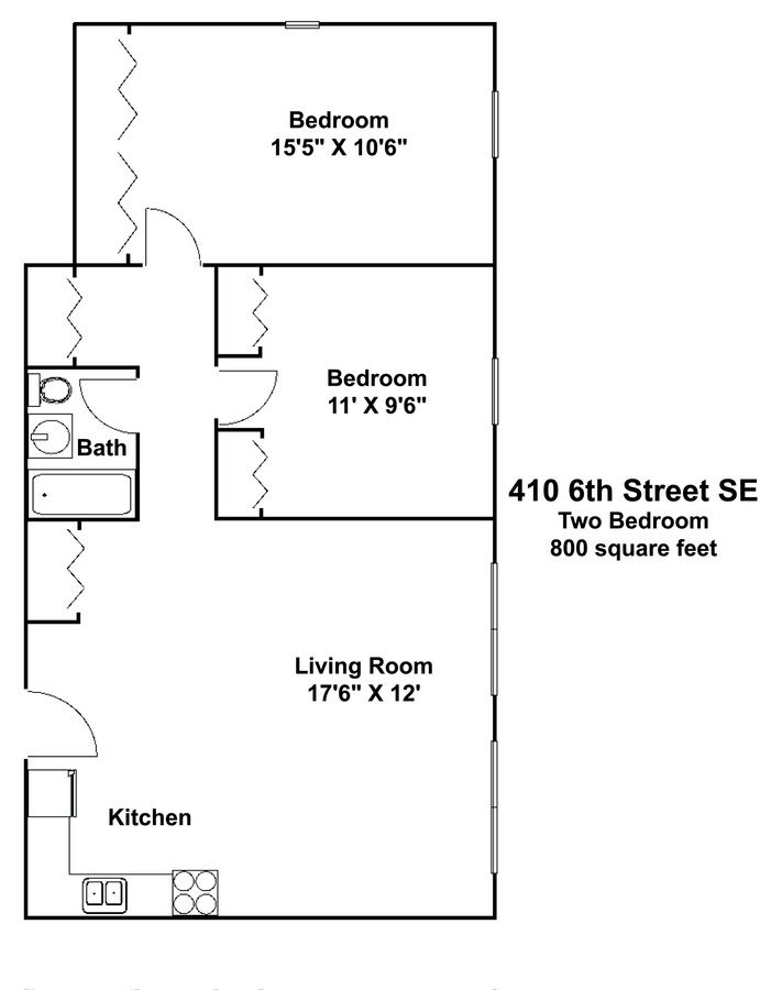 2 Bedrooms 1 Bathroom Apartment for rent at 410 Apartments in Minneapolis, MN