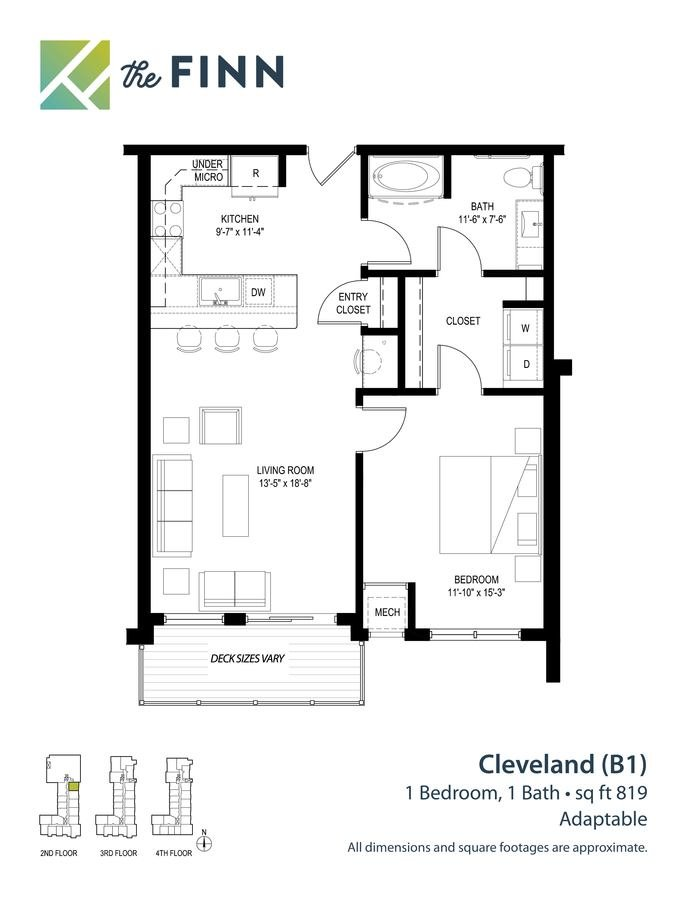 1 Bedroom 1 Bathroom Apartment for rent at The Finn in St Paul, MN