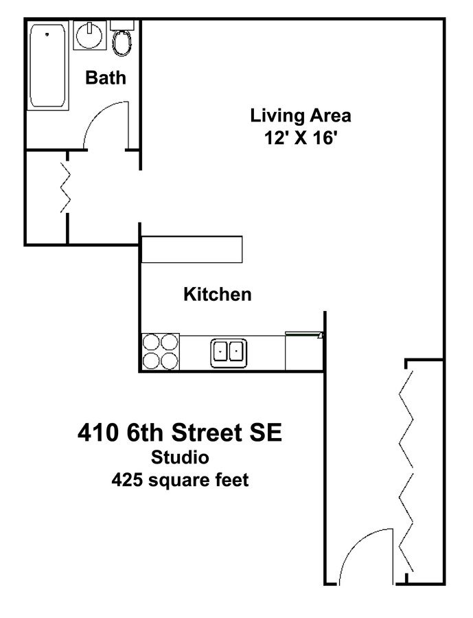 Studio 1 Bathroom Apartment for rent at 410 Apartments in Minneapolis, MN