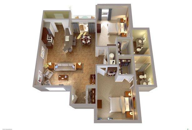 2 Bedrooms 2 Bathrooms Apartment for rent at University Edge Waco in Waco, TX