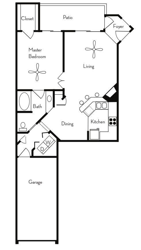 1 Bedroom 1 Bathroom Apartment for rent at Pavilions On Central in Phoenix, AZ