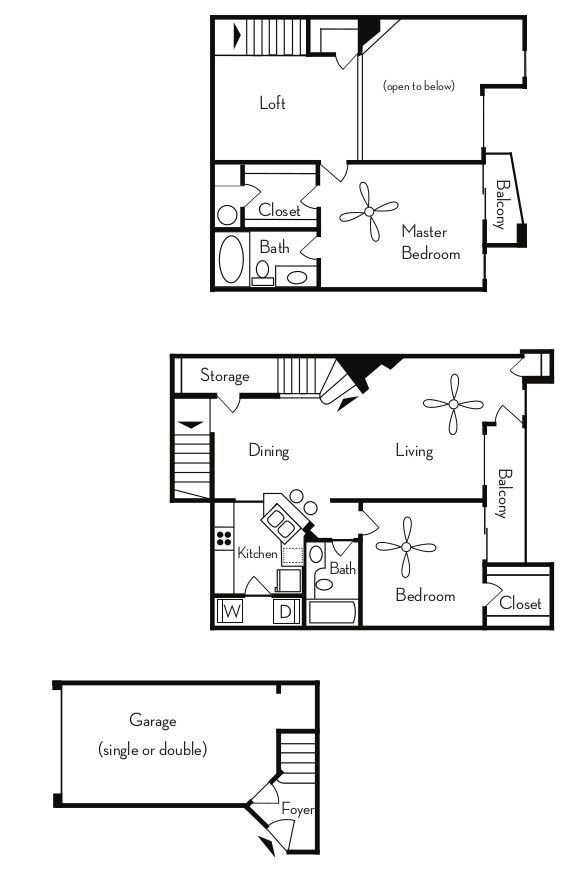 2 Bedrooms 2 Bathrooms Apartment for rent at Pavilions On Central in Phoenix, AZ