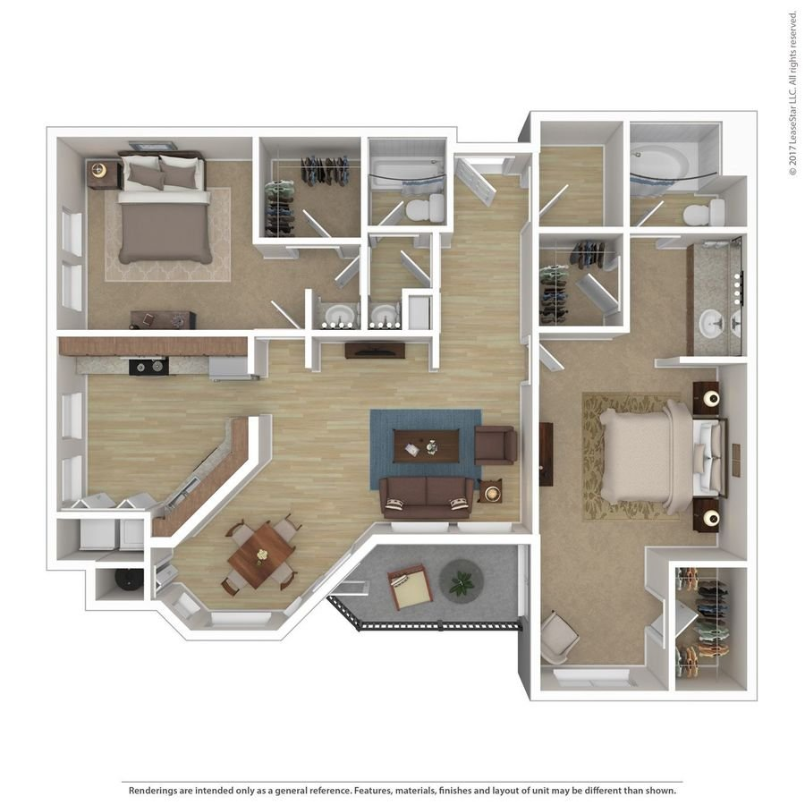 2 Bedrooms 2 Bathrooms Apartment for rent at Andante in Phoenix, AZ