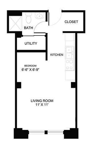 Studio 1 Bathroom Apartment for rent at The Atlas in Columbus, OH