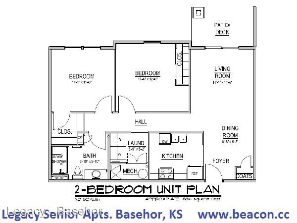 2 Bedrooms 1 Bathroom Apartment for rent at 2429 North 155th Street in Basehor, KS