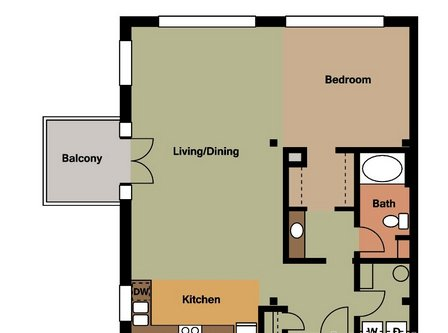 1 Bedroom 1 Bathroom Apartment for rent at Wire Works in St Louis, MO