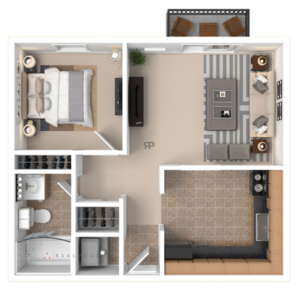 1 Bedroom 1 Bathroom Apartment for rent at Ash Street Place in Columbia, MO