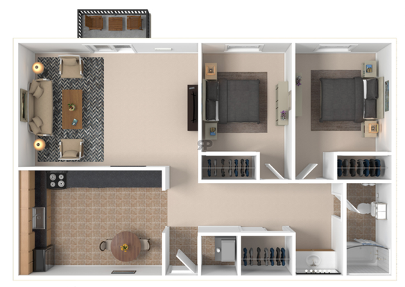 2 Bedrooms 1 Bathroom Apartment for rent at Ash Street Place in Columbia, MO