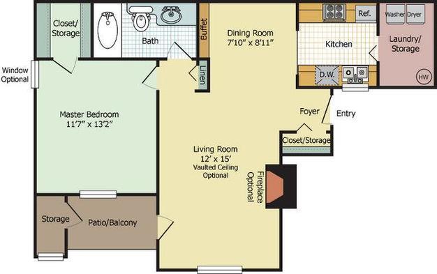 1 Bedroom 1 Bathroom Apartment for rent at Briar Cove in Ann Arbor, MI