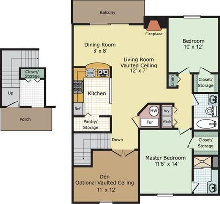 2 Bedrooms 2 Bathrooms Apartment for rent at Briar Cove in Ann Arbor, MI