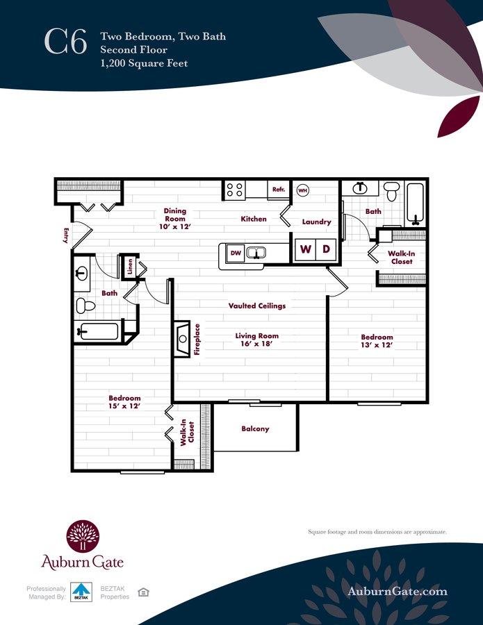2 Bedrooms 2 Bathrooms Apartment for rent at Auburn Gate in Auburn Hills, MI