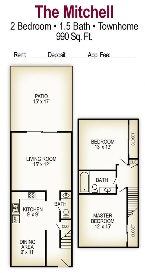 2 Bedrooms 2 Bathrooms Apartment for rent at Georgetown Apartments in Columbus, OH