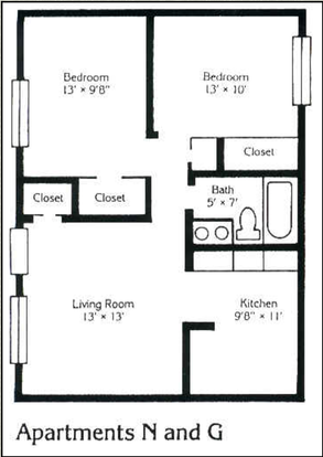 2 Bedrooms 1 Bathroom Apartment for rent at 285 E 14th Ave in Columbus, OH