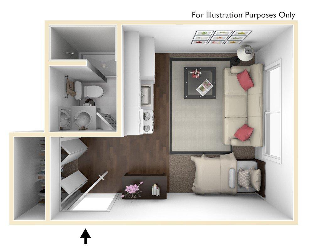 Studio 1 Bathroom Apartment for rent at Stoddard Apartments in East Lansing, MI