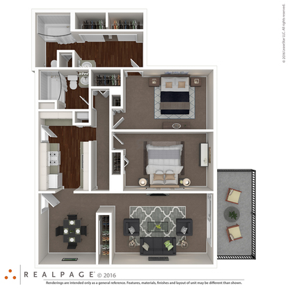 2 Bedrooms 2 Bathrooms Apartment for rent at The Renaissance Apartments in Memphis, TN