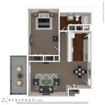 1 Bedroom 1 Bathroom Apartment for rent at The Renaissance Apartments in Memphis, TN