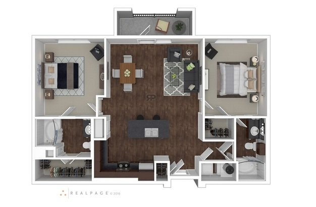 2 Bedrooms 2 Bathrooms Apartment for rent at Anatole At City View in Lubbock, TX