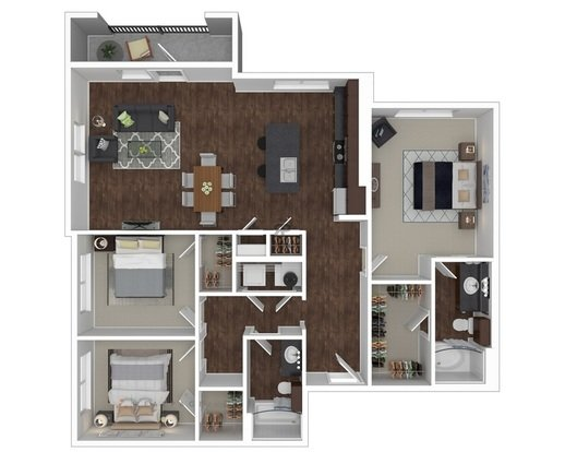 3 Bedrooms 2 Bathrooms Apartment for rent at Anatole At City View in Lubbock, TX