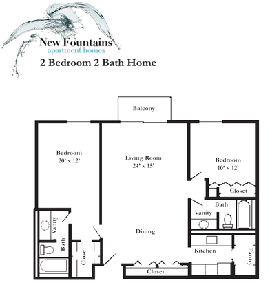 2 Bedrooms 2 Bathrooms Apartment for rent at New Fountains Apartments in Madison, WI