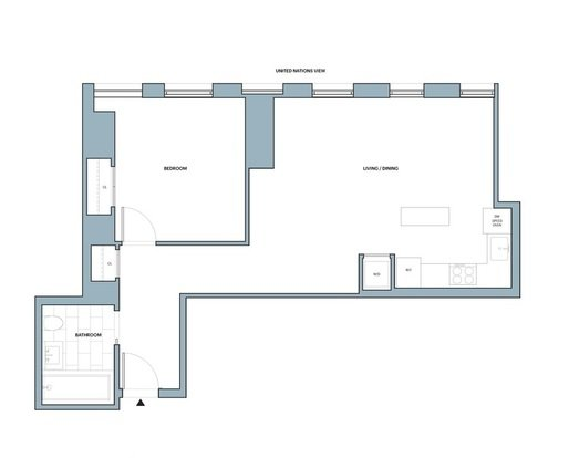 1 Bedroom 1 Bathroom Apartment for rent at 626 1st Avenue in New York, NY