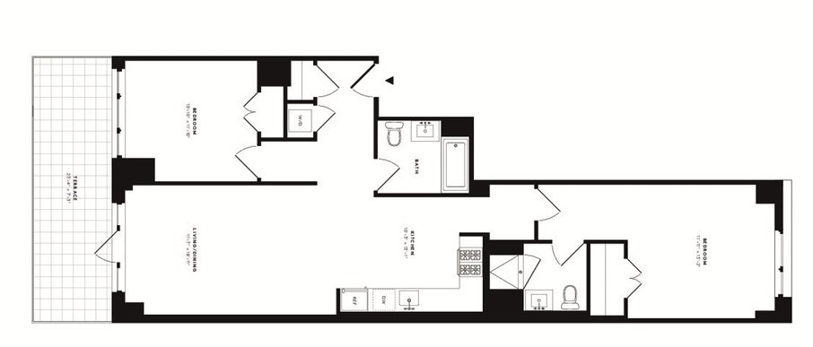 2 Bedrooms 2 Bathrooms Apartment for rent at 535w43 in New York, NY