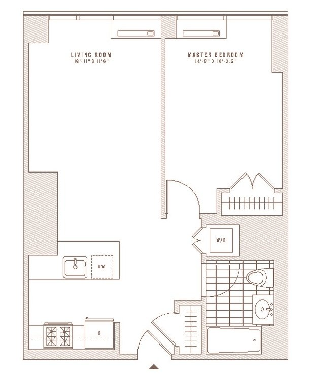 1 Bedroom 1 Bathroom Apartment for rent at The Eugene in New York, NY