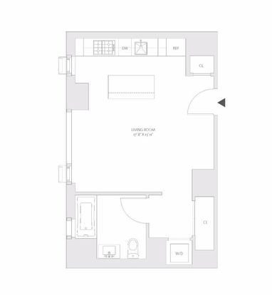 Studio 1 Bathroom Apartment for rent at 1065 2nd Avenue in New York, NY