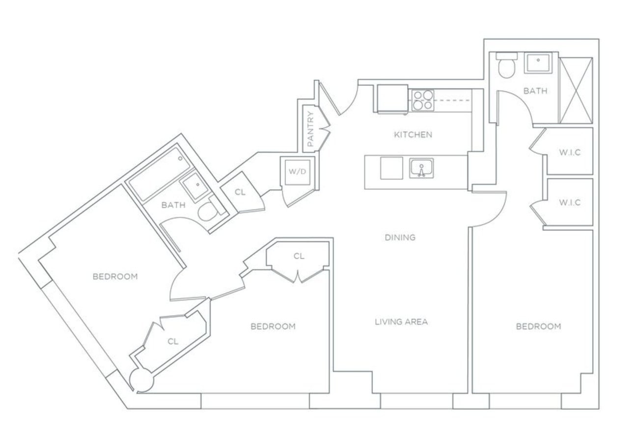 3 Bedrooms 2 Bathrooms Apartment for rent at 420 West 54th St in New York, NY