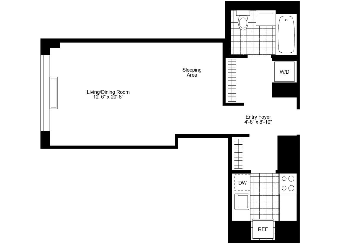 Studio 1 Bathroom Apartment for rent at 130 West 15th St in New York, NY