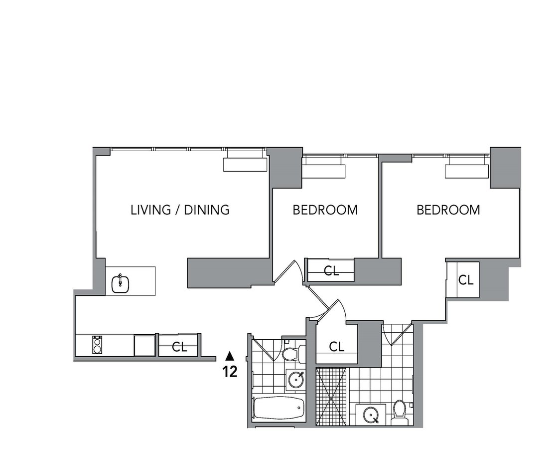 2 Bedrooms 1 Bathroom Apartment for rent at 620 West 42nd St in New York, NY