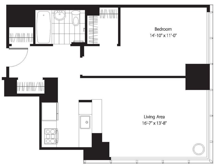 1 Bedroom 1 Bathroom Apartment for rent at 200 West 67th St in New York, NY