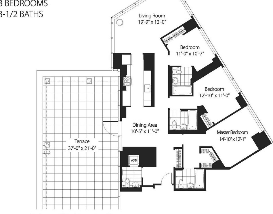 2 Bedrooms 2 Bathrooms Apartment for rent at 200 West 67th St in New York, NY
