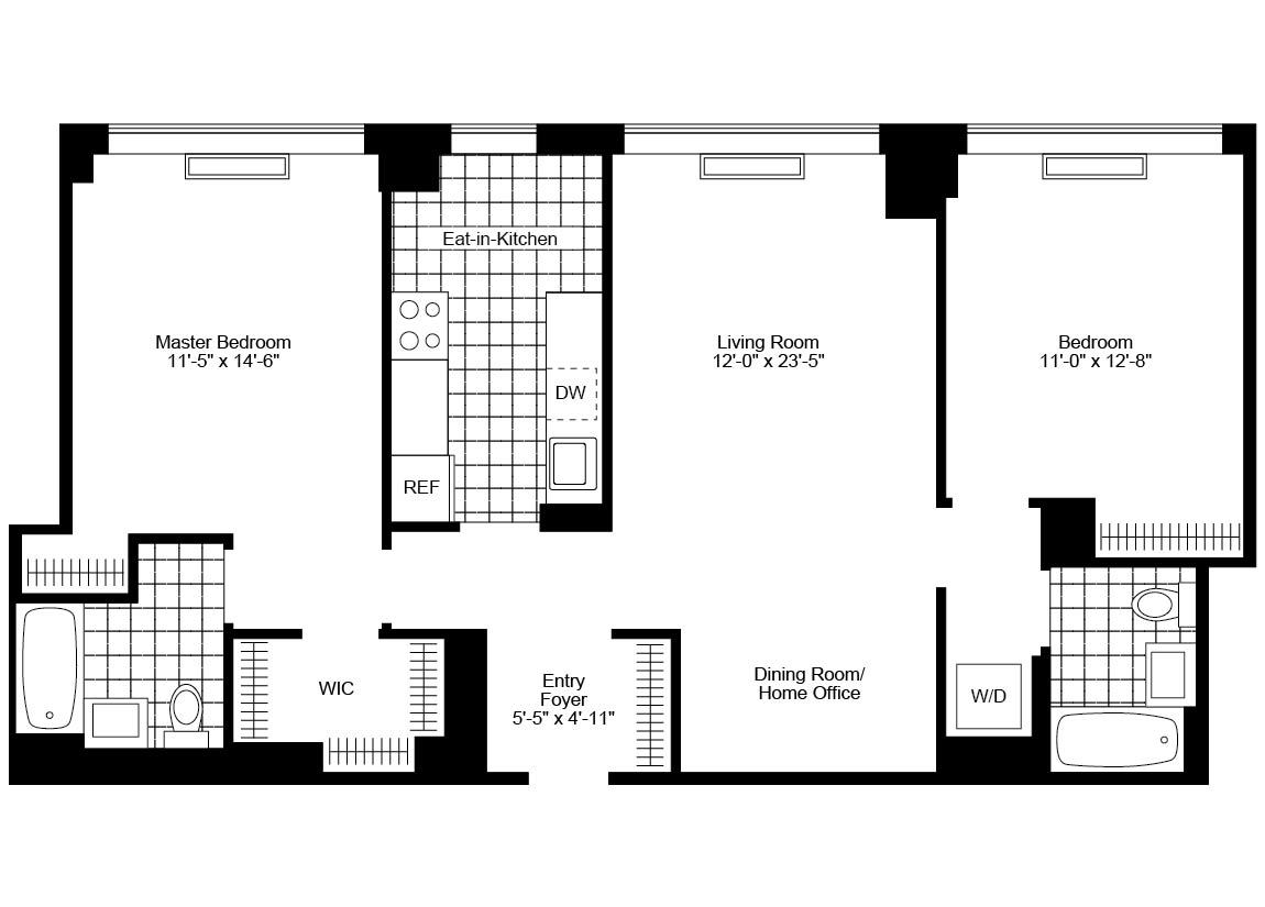 1 Bedroom 1 Bathroom Apartment for rent at 130 West 15th St in New York, NY