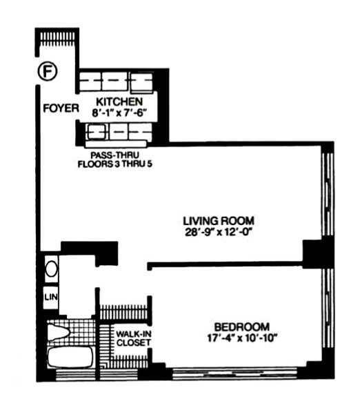 1 Bedroom 1 Bathroom Apartment for rent at 260 West 52nd St in New York, NY