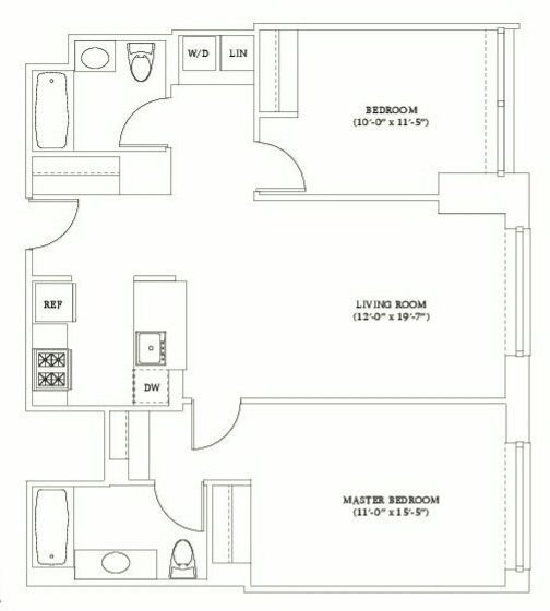 2 Bedrooms 2 Bathrooms Apartment for rent at Gotham West in New York, NY