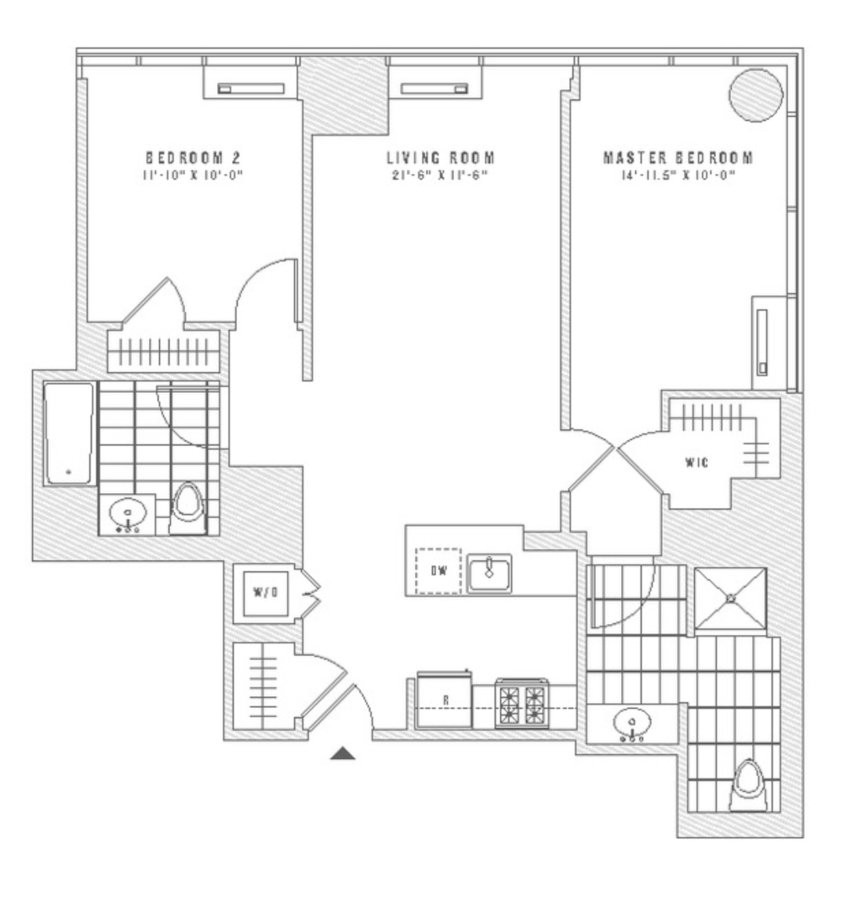 2 Bedrooms 2 Bathrooms Apartment for rent at The Eugene in New York, NY