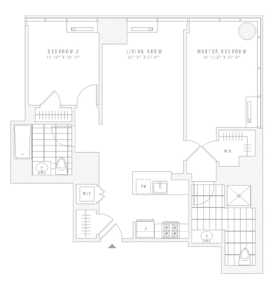 2 Bedrooms 2 Bathrooms Apartment for rent at 435 West 31st St in New York, NY