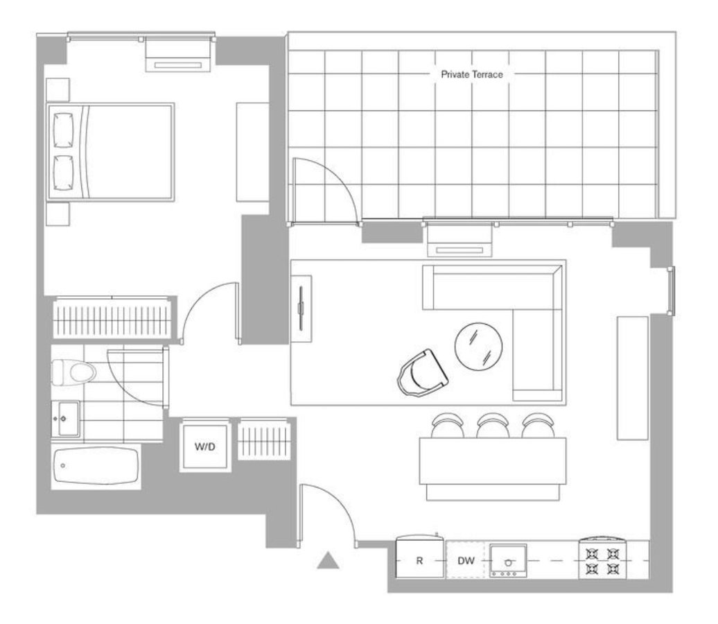 1 Bedroom 1 Bathroom Apartment for rent at 221 West 29th St in New York, NY