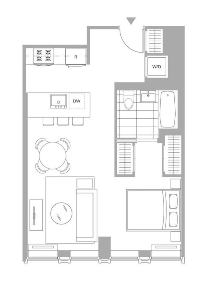 Studio 1 Bathroom Apartment for rent at 221 West 29th St in New York, NY