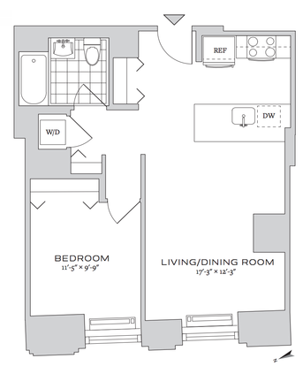 1 Bedroom 1 Bathroom Apartment for rent at 70 Pine Street in New York, NY