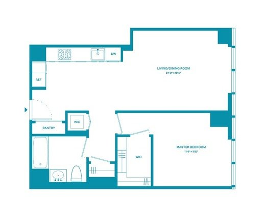 1 Bedroom 1 Bathroom Apartment for rent at 100 West 31st St in New York, NY
