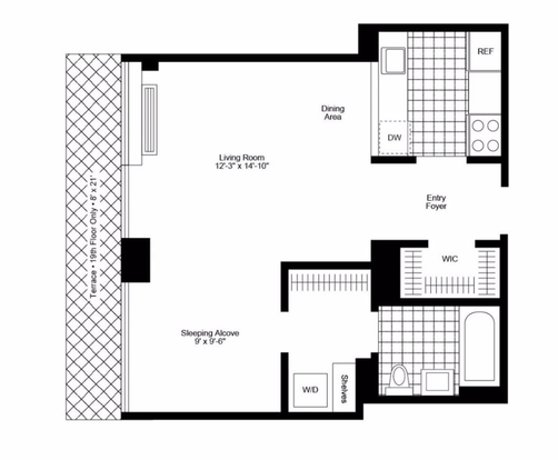 Studio 1 Bathroom Apartment for rent at 240 East 86th St in New York, NY