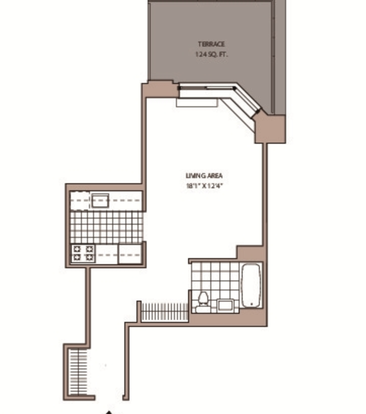 Studio 1 Bathroom Apartment for rent at 77 West 24th St in New York, NY